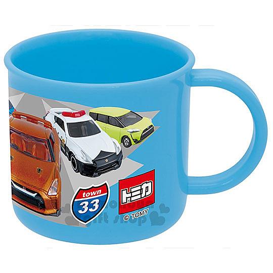 〔小禮堂〕TOMICA小汽車 日製塑膠小水杯《藍.跑車.警車.卡車.200ml》 4973307-39652