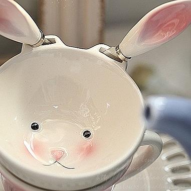 【協貿國際】陶瓷小兔子碗刀