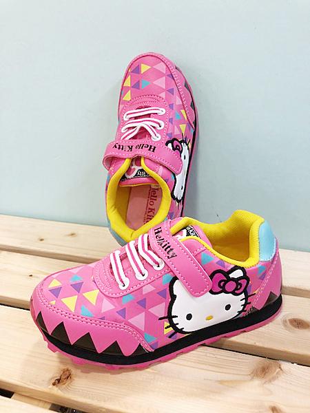 【震撼精品百貨】Hello Kitty 凱蒂貓~台灣製Hello kitty正版兒童輕布鞋-桃紅色(17~21號)