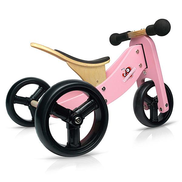 Kinderfeets 美國木製平衡滑步車/學步車-初心者三輪系列 (粉精靈)