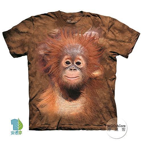 【摩達客】(現貨)美國進口The Mountain 小紅毛猩猩 純棉環保藝術中性短袖T恤