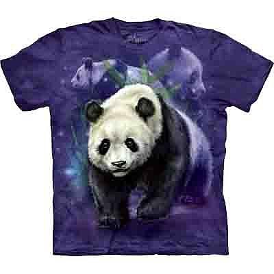 【摩達客】(預購)美國進口【The Mountain】Classic自然純棉系列 熊貓群設計T恤(10412045113a)