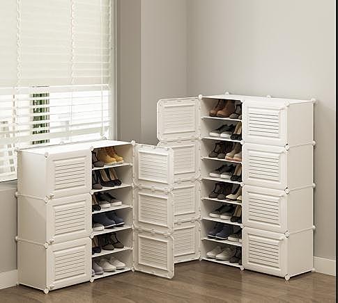 鞋櫃簡易鞋櫃家用門口收納多層經濟型宿舍省空間防塵進門置物架鞋架子JD 美物 交換禮物