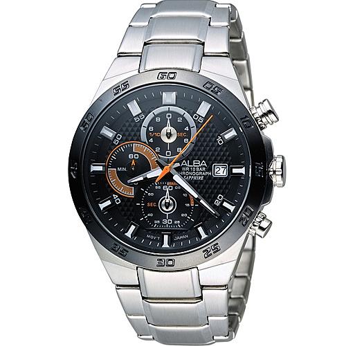 ALBA 雅柏 活力運動型男三眼計時腕錶 VD57-X080D