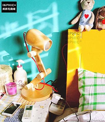 INPHIC- 學生護眼燈閱讀燈日式燈具臥室床頭燈實木創意檯燈-A款_S197C