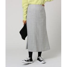 <アンタイトル/UNTITLED> ウールサキソニーナロースカート(2001567334) グレー【三越・伊勢丹/公式】
