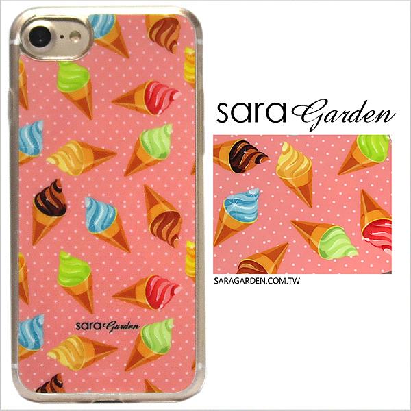 客製化 軟殼 iPhone 8 7 6 6S Plus 手機殼 保護套 全包邊 掛繩孔 水玉圓點冰淇淋