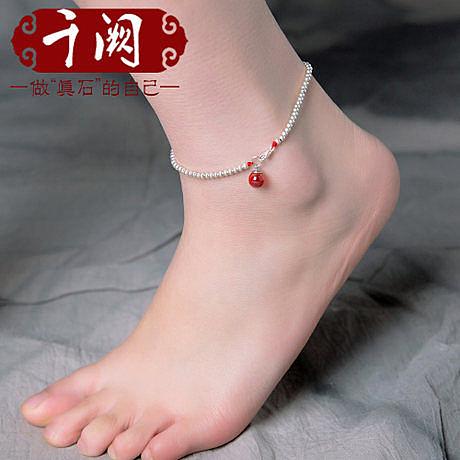 【腳圍21~24cm】純銀腳鏈女白金韓版