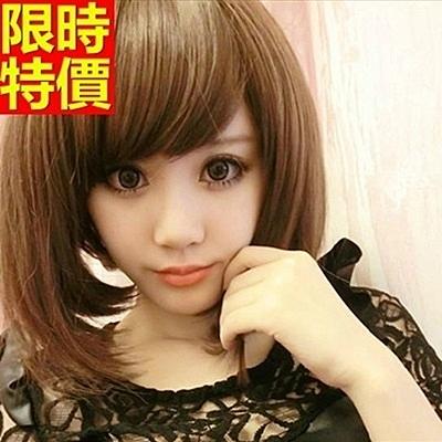 短假髮-可愛時尚修臉逼真女美髮用品3色69o73[巴黎精品]