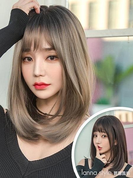 假髮 女中長髮 長直髮 逼真自然全頭套新式髮 套偽娘網紅鎖骨髮 短髮  Lanna