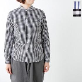 Le Glazik ルグラジック コットン100%ピーターパンカラーパターンシャツ