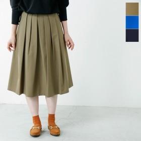 MARECHAL TERRE マルシャルテル タックロングフレアースカート tuck skirt