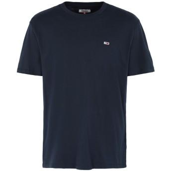 《セール開催中》TOMMY JEANS メンズ T シャツ ダークブルー XS オーガニックコットン 100% TJM TOMMY CLASSICS