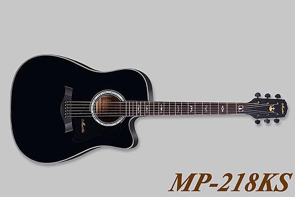 小叮噹的店 - 全新 MATILDA 黑色 英格曼雲杉木吉他 MP218KS