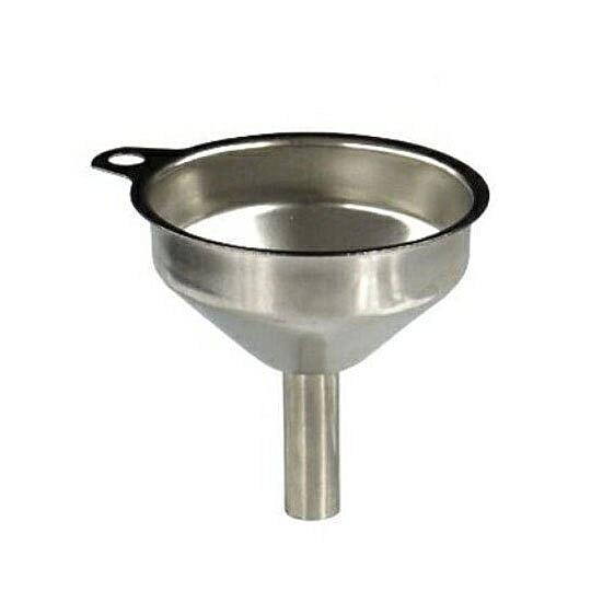 〔小禮堂〕日本ECHO 圓形不鏽鋼漏斗《銀》直徑5cm.濾斗.濾嘴 4991203-16618