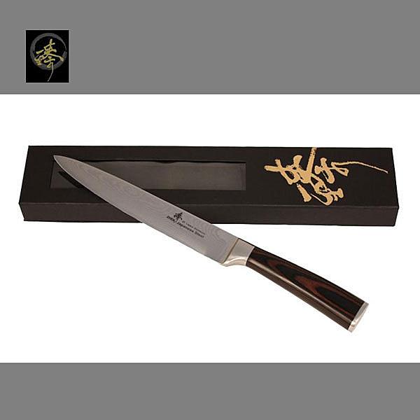 料理刀具 大馬士革鋼系列-魚肉刀 〔臻〕高級廚具 DLC828-01