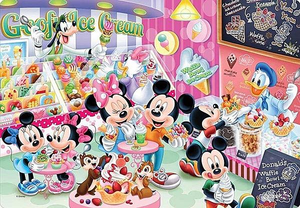 冰淇淋店  /60P/Tenyo/米奇/迪士尼/兒童/紙板/日本進口拼圖