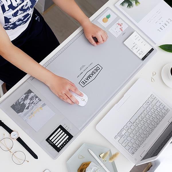 韓國簡約電腦辦公桌墊多功能收納桌墊寫字墊大號滑鼠墊學生