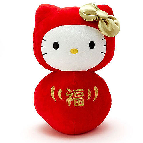 【震撼精品百貨】Hello Kitty 凱蒂貓~HELLO KITTY裝扮不倒翁絨毛娃娃M