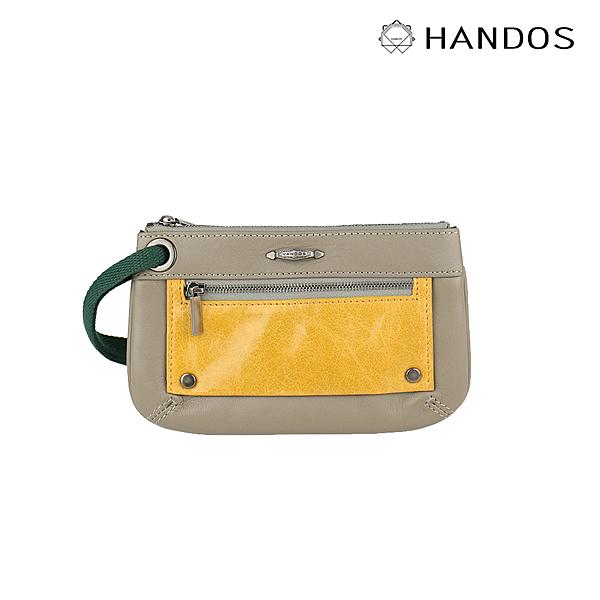 HANDOS Bracelet 浪漫輕便手拿包 - 灰X黃 ↘6折