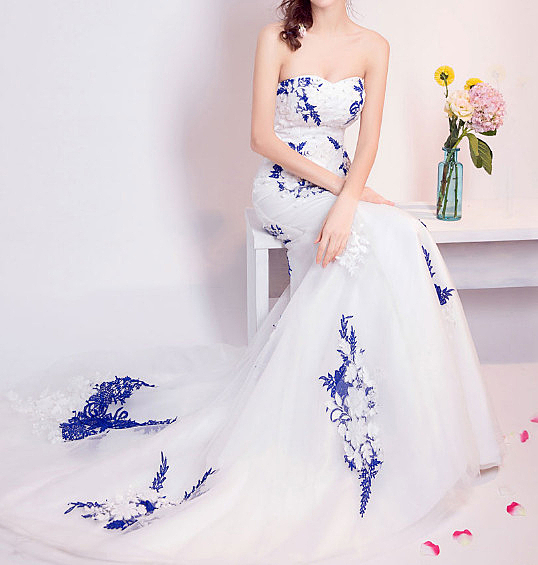 (45 Design)    7天到貨 客製化顏色大尺碼訂做訂做 日韓婚紗長禮服 高級訂製小禮服 大尺碼28