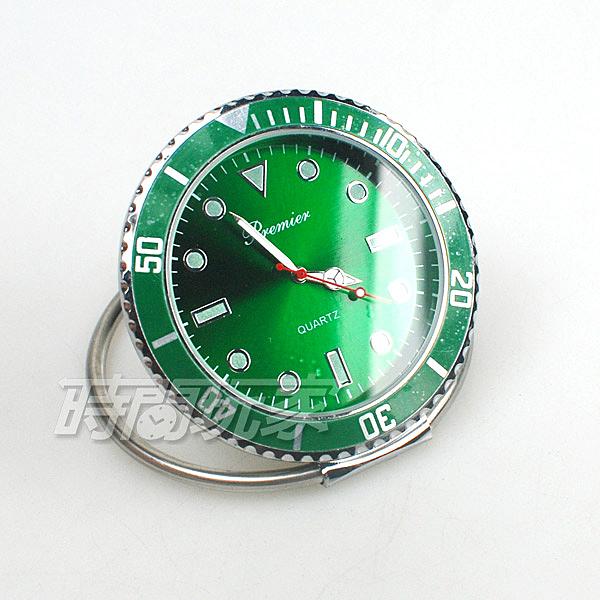 premier 水鬼造型 迷你小桌鐘 創意桌面小時鐘 數字時刻 擺飾 夜光時刻 P1142亮綠