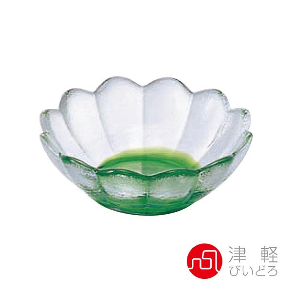 日本津輕 彩潤手作蓮花缽(深)-綠色