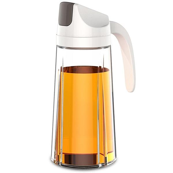 自動玻璃油壺廚房家用塑膠防漏油罐醬油瓶醋壺大號小號裝倒油瓶 樂活生活館