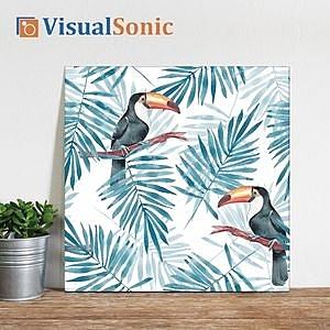 VISUAL SONIC超薄藍牙畫布音箱 Tropic
