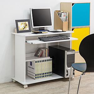 【TZUMii】日式活動電腦桌-雙色可選白色