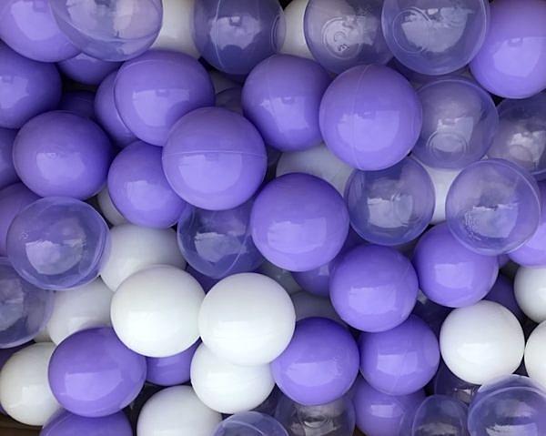 台灣製~奢華紫戀色系遊戲彩球~超限量紫色海洋球~100球~球屋球池專用波波球~幼之圓