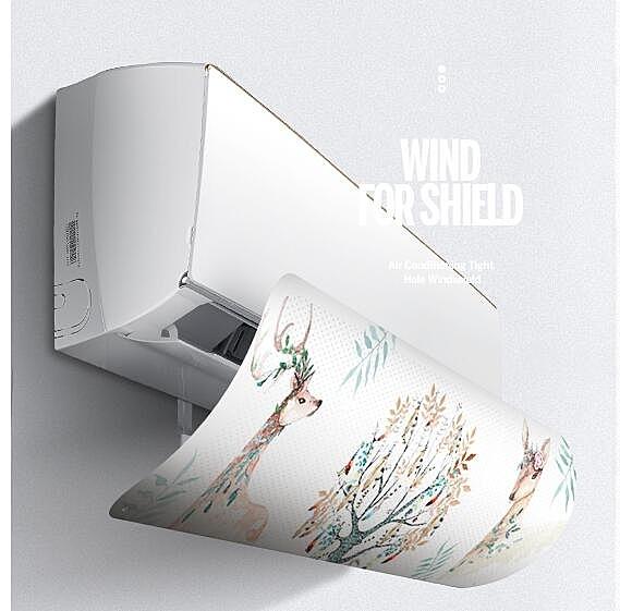 冷氣擋風板 BL空調擋風板月子防直吹出風口防風遮板通用導風罩冷風擋板【萬聖夜來臨】