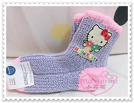 ♥小花花日本精品♥Hello Kitty 魔術襪棉襪毛襪保暖襪大臉花朵紫色粉色大臉蝴蝶結日本限定 77702005