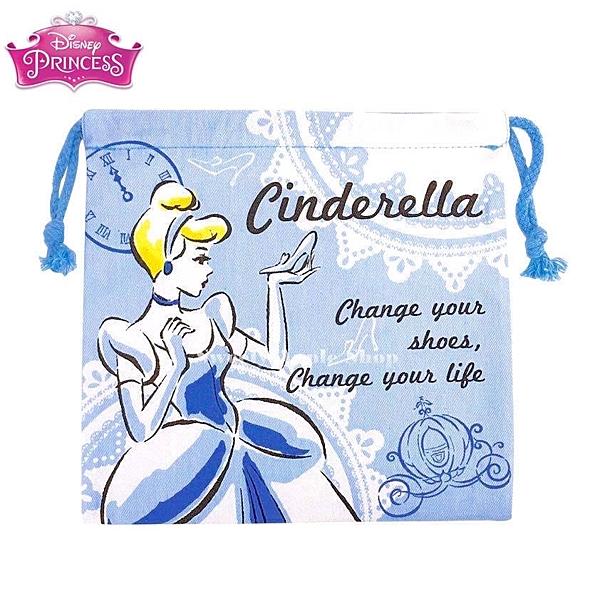 日本限定 迪士尼 迪士尼公主 仙度瑞拉 束口袋 / 收納袋