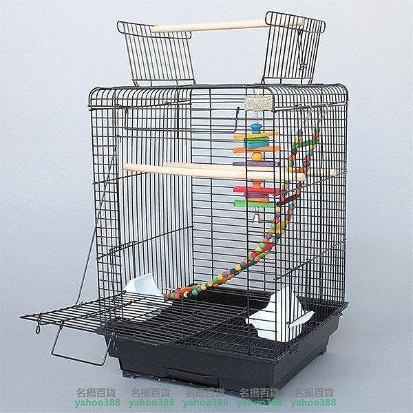 W百貨歐式鐵藝 放開式實用型鳥籠 大號鸚鵡籠 和尚小太陽籠 包郵 1901 放開式鳥籠MY~453