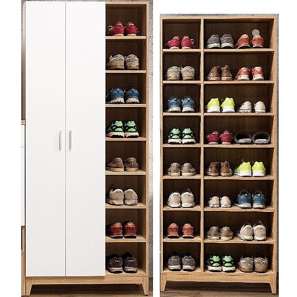 鞋櫃 QW-434-3 金詩涵2.64尺開放式二門高鞋櫃【大眾家居舘】
