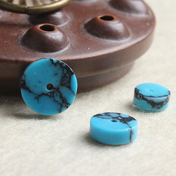[超豐國際]DIY水晶飾品配件優化藍松石隔片半成品手鏈串珠手1入