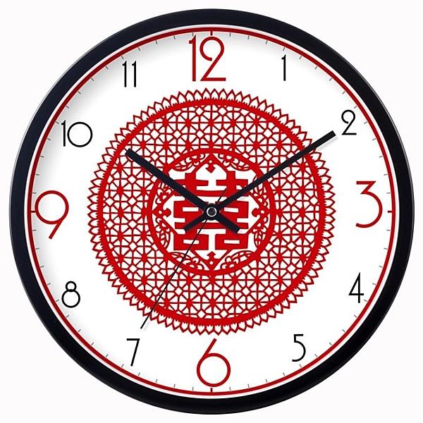 [超豐國際]客廳裝飾掛鐘婚禮靜音鐘表創意掛表石英鐘時尚大號現1入