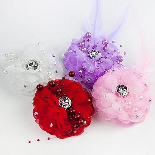 婚禮用品推薦 花朵珠鑽胸花/夾