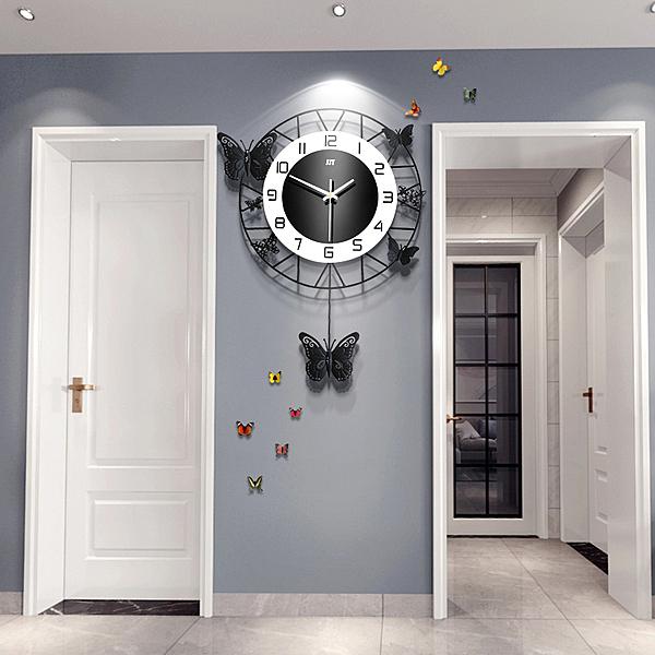 掛鐘 北歐鍾表掛鍾客廳大氣個性創意時尚藝術表家用現代簡約掛牆時鍾 店慶降價