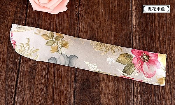 高檔錦緞絲綢刺繡扇袋15