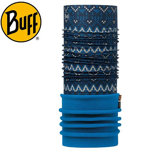 【BUFF 西班牙《仿針織藍紋》 POLAR保暖頭巾】113101/秋冬/口罩/快乾圍巾/脖圍