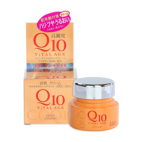 Kose高絲 Vital Age Q10酵素緊緻活膚凝霜40g【小三美日】D308921