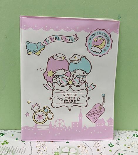 【震撼精品百貨】Little Twin Stars KiKi&LaLa 雙子星小天使~Sanrio 護照套-熱氣球#68401