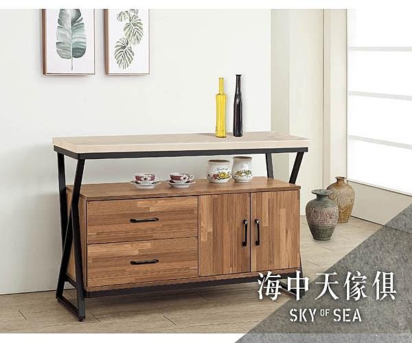 {{ 海中天休閒傢俱廣場 }} G-02 摩登時尚 餐櫃系列 346-2 奧蘿拉集層柚木4尺碗盤櫃(含石面)