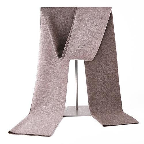 羊毛圍巾-針織加厚雙面雙色男披肩4色73wh14[時尚巴黎]