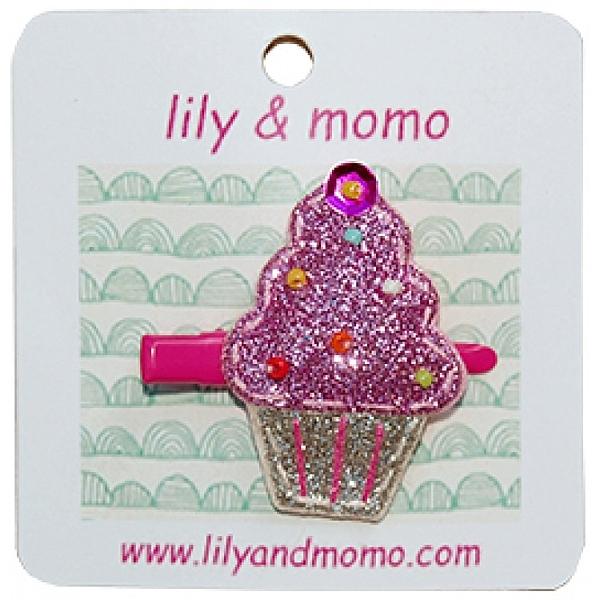 【美國 Lily & Momo】手工童趣髮飾- 杯子蛋糕  #HCA367