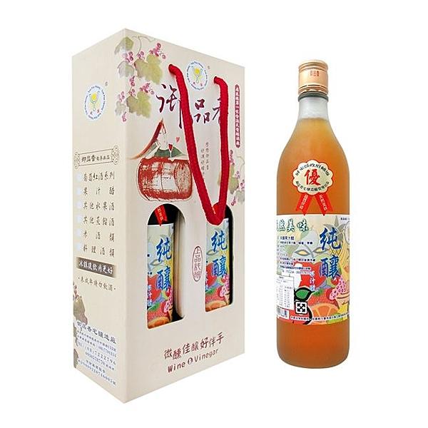 《好客-御品香》純釀果汁醋(600ml/瓶,2瓶/盒)(免運商品)_A049001