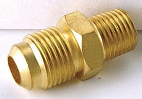 銅接頭 銅管接頭 1/4 PT外牙*1/4 銅管