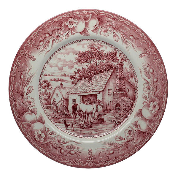 英國Royal Stafford老英格蘭風情系列- 28cm 彩繪盤(拓墾)